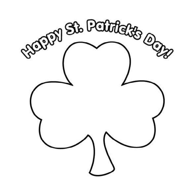 It's just a picture of St Patrick's Day Clover Printable for irish