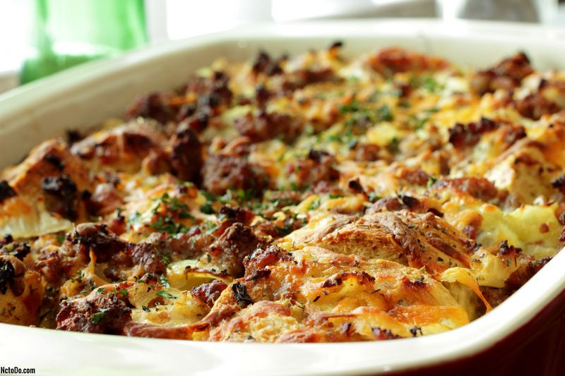 Corned Beef and Spinach Strata