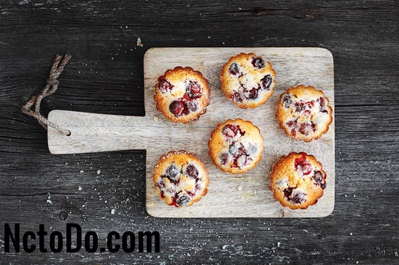 Cranberry Orange Muffins mit Pekannüssen