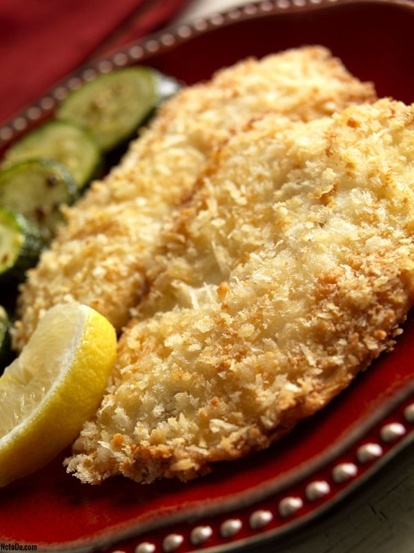 Tilapia mit Butter Crumb Topping