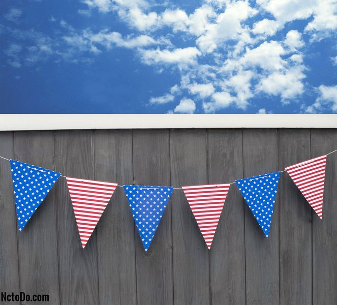DIY Stars And Stripes 4. Juli Banner
